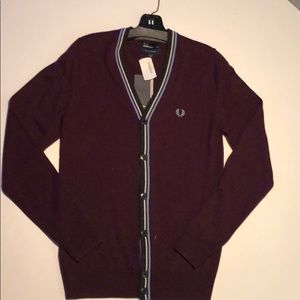 NEW WITH TAGS Fred Perry wool bold cardigan